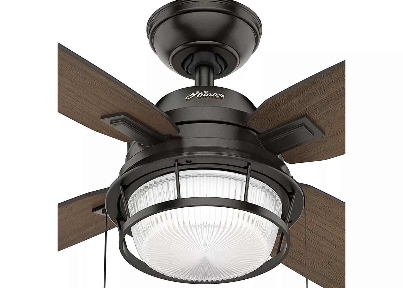 """52"""" Ocala Noble Bronze Ceiling Fan with Light - Hunter Fan ..."""