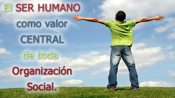 The human being as value CENTRAL all Organization Social .