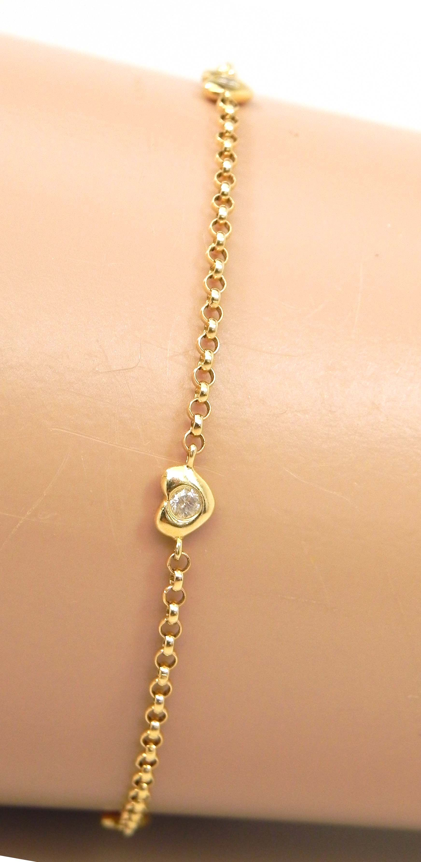 bracelet diamond gold lirysjewelry anklet img yellow products