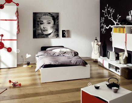 edgy eclectic bedroom