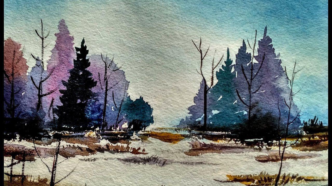 Watercolor Landscape Tutorial How To Paint A Watercolor