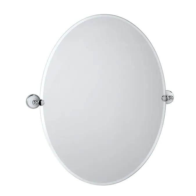 Mirror Bathroom, Oval Frameless Bathroom Mirror