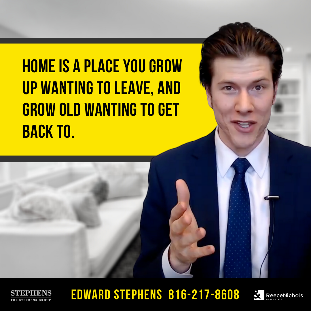 Home is a place you grow up wanting to leave, and grow old wanting to get back to. #TheStephensGroup #Realtor #EdwardStephens #Sold #NewHome #Home #HomeForSale #RingTheBell #NewListing #Broker #HouseHunting #MillionDollarListing #HomesForSale #ForSale #KansasCity #KCMO #Instakc #igkansascity #igkc #luxury #chiefs #Kansas #Missouri #ChiefsKingdom #MadeInKC #ChiefsNation #ReppinKC #KCRoyals #Houses #HousesofInstagram #RealEstate #Renovated #KC #KCRealtor