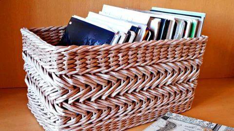 плетение из газетных трубочек новые идеи: 17 тыс ...