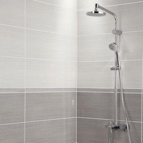 salle de bain carrelage mural chloe premium en faence blanc 24 x - Salle De Bain Carrelage Mural