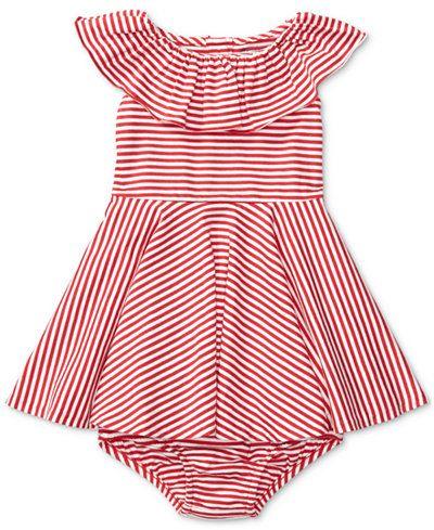 8725c84ad Ralph Lauren Striped Cotton Jersey Dress, Baby Girls (0-24 months ...