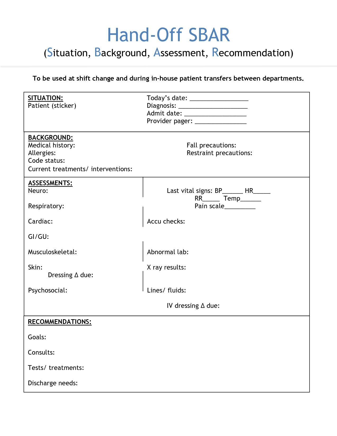 The Outstanding Nursing Shift Handover Template Invitation Templates Within Nurse Shift Report Sheet Template Di Nurse Report Sheet Nurse Report Sbar Nursing