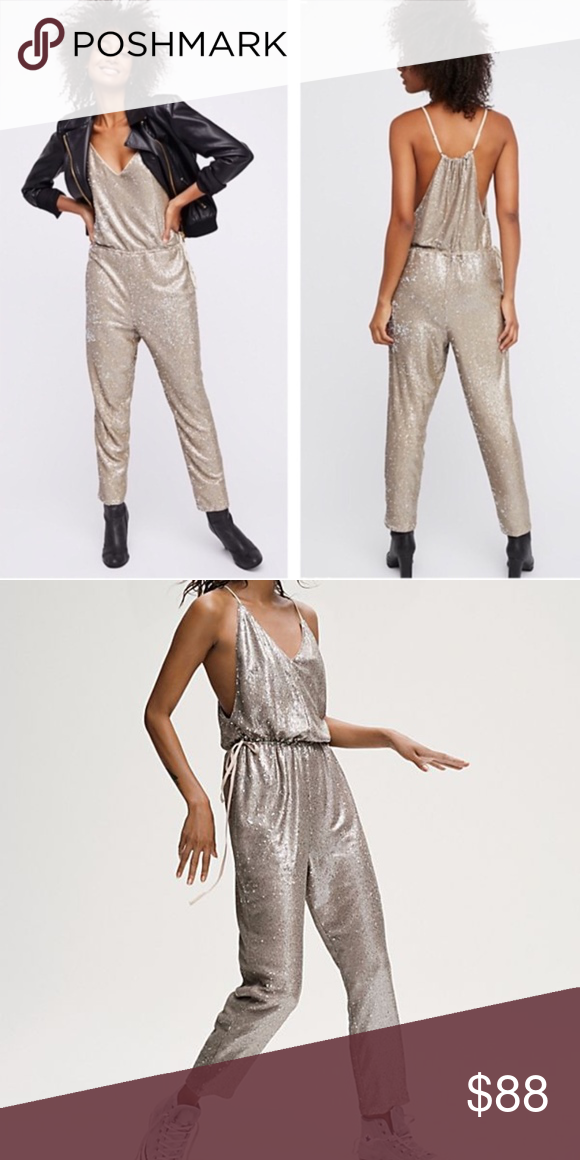 Free People Gold Sequin Jumpsuit In 2018 My Posh Picks Pinterest