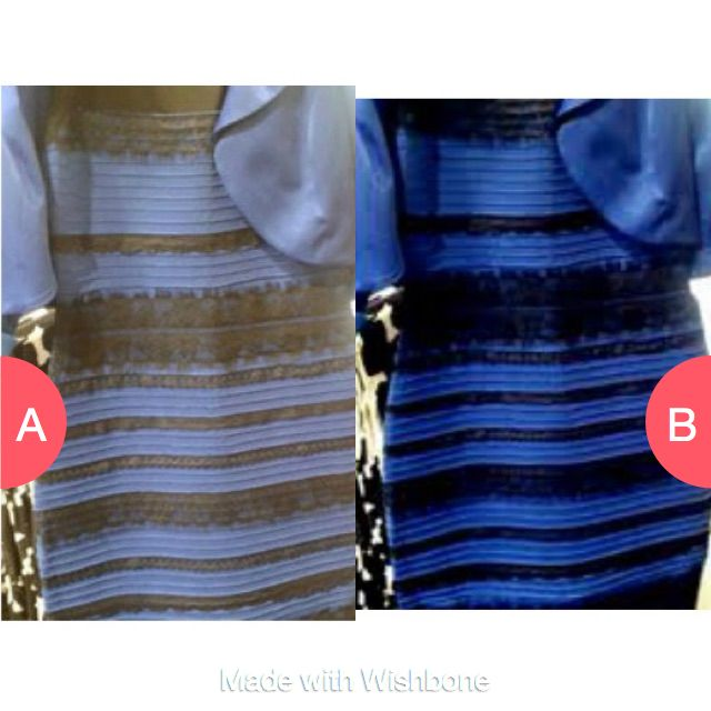 What do u see:  Gold and white or black and blue Click here to vote @ http://getwishboneapp.com/share/21162690