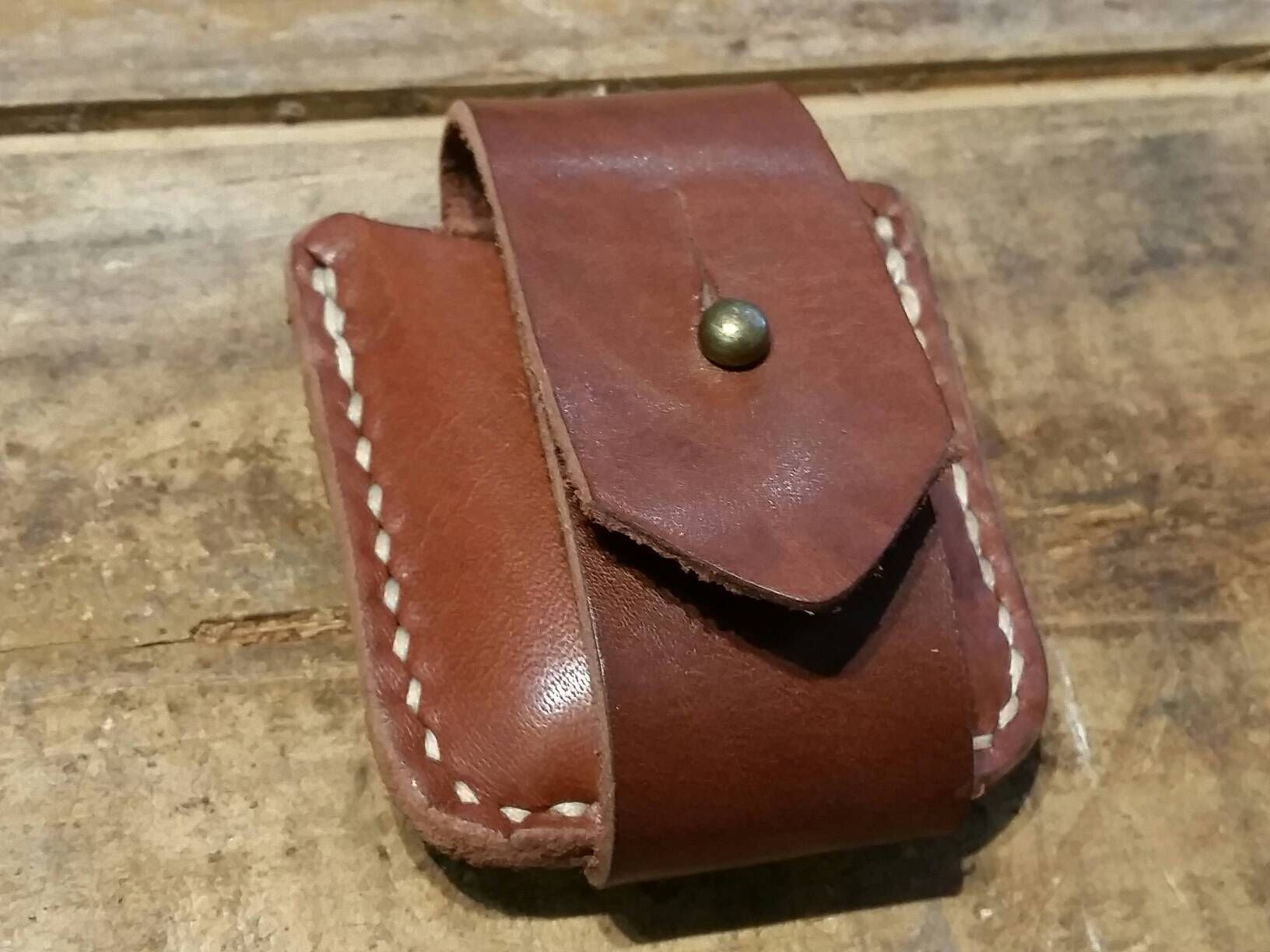 Leather handmade zippo pouch by craftydevilstas on etsy