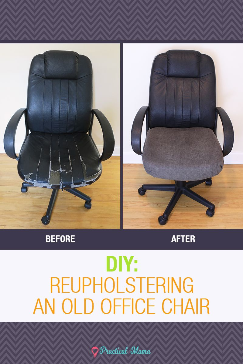 Reupholstering The Old Office Chair