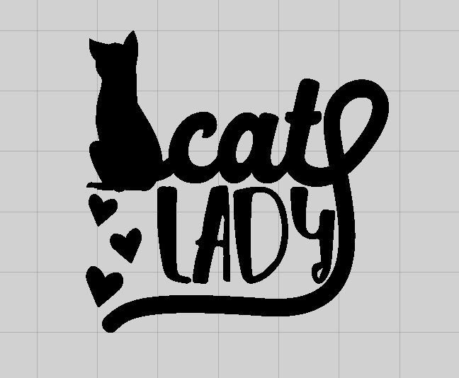 Cat Lady Cat Decal Vinyl Decal Laptop Decal Pet Decal - Vinyl decal cat pinterest