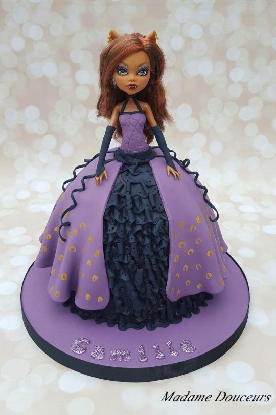 Awe Inspiring Monster High Doll Cake Monster High Birthday Cake Monster High Personalised Birthday Cards Sponlily Jamesorg