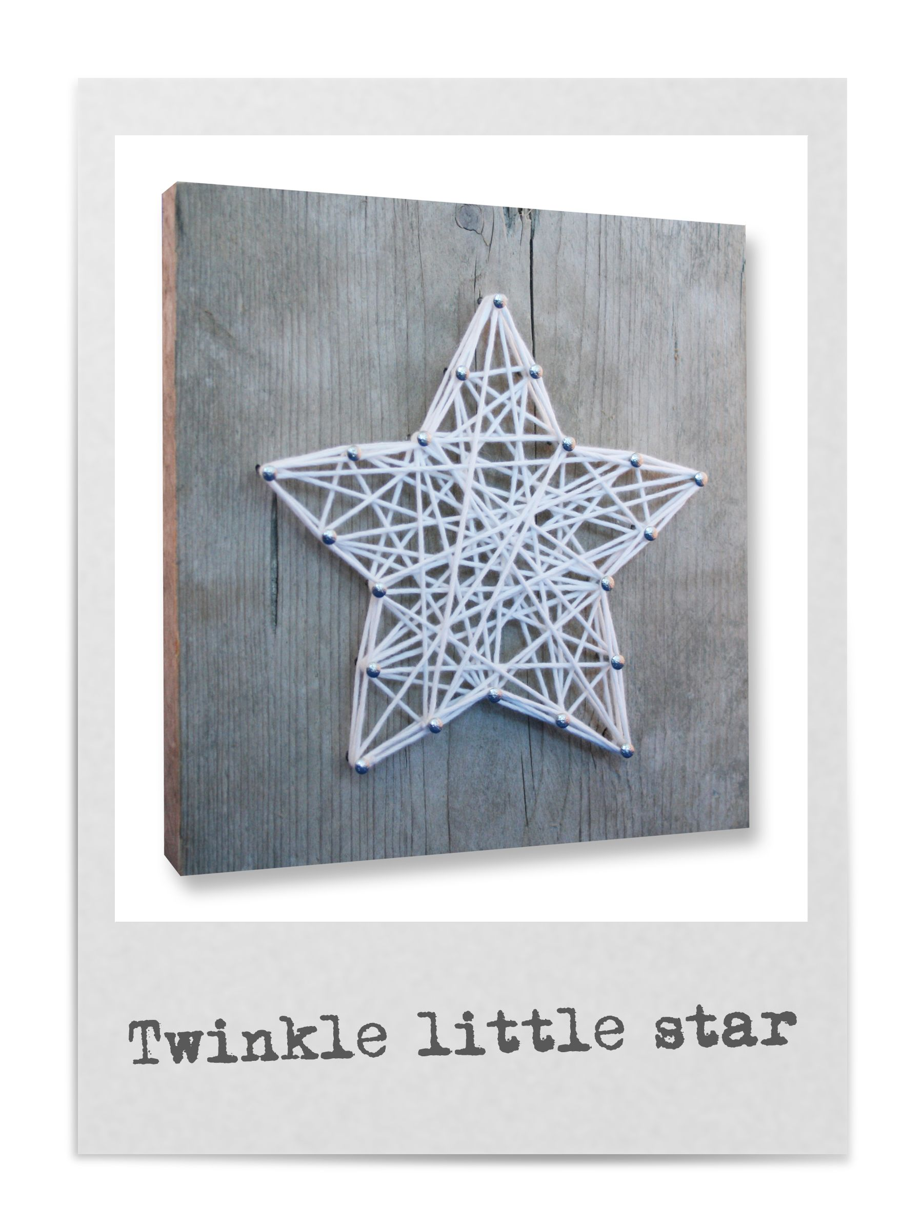 String-art DIY christmas package including wood panel (20x20cm ...