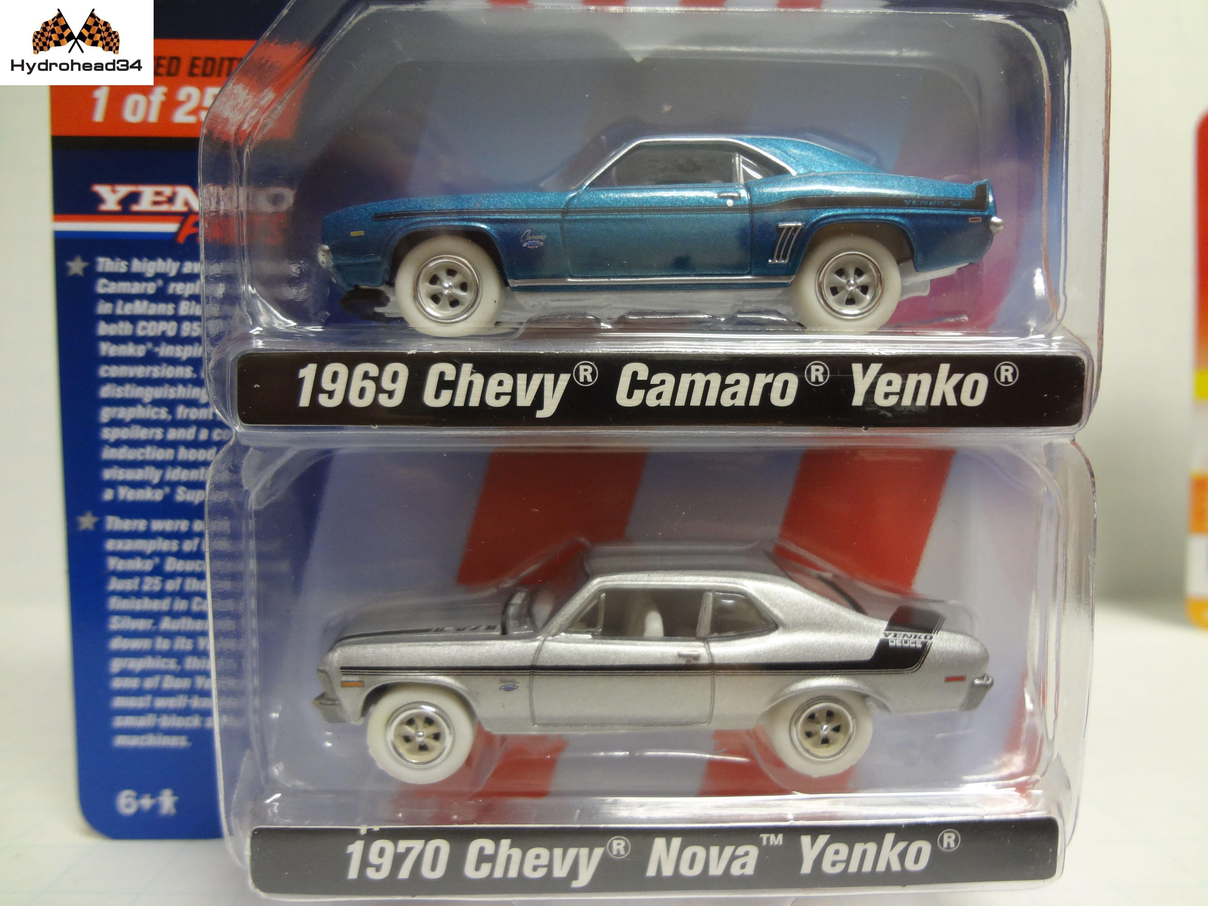 Johnny Lightning White Lightning 1969 Camaro & 1970 Nova Yenko JLPK