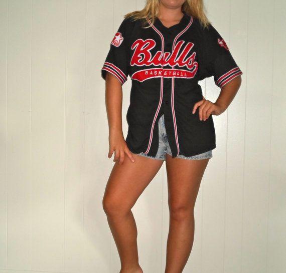 bulls button up jersey