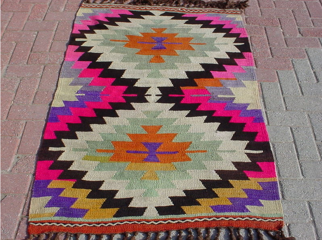 This is so pretty. Aztec/Navajo print rug.  www.astralriles.com #ReDesign #ReInvent #ReLive