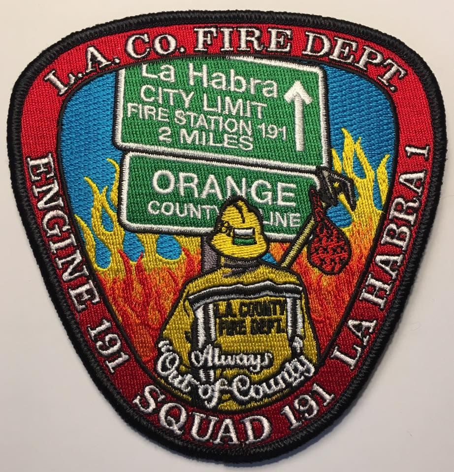 Los Angeles County Fire Department Station 191 Fire Badge Fire Service Ems Patch