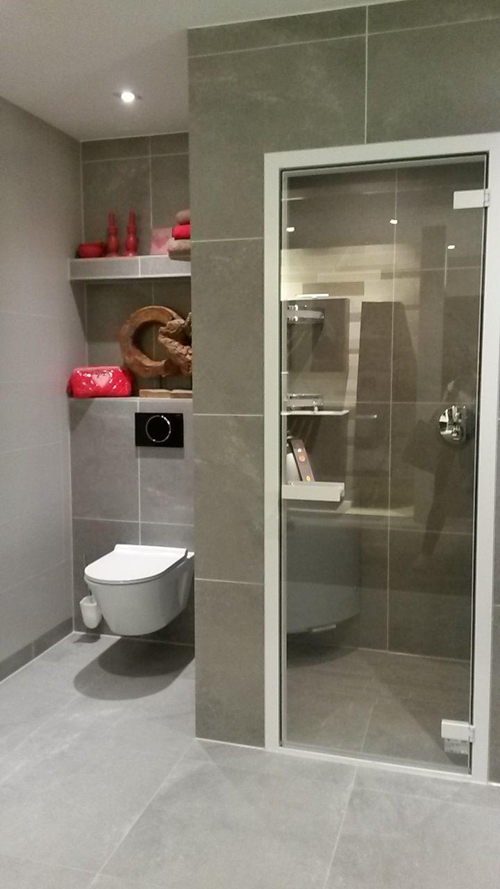 mooie kleur grijze stenen badkamer wooning bathrooms pinterest