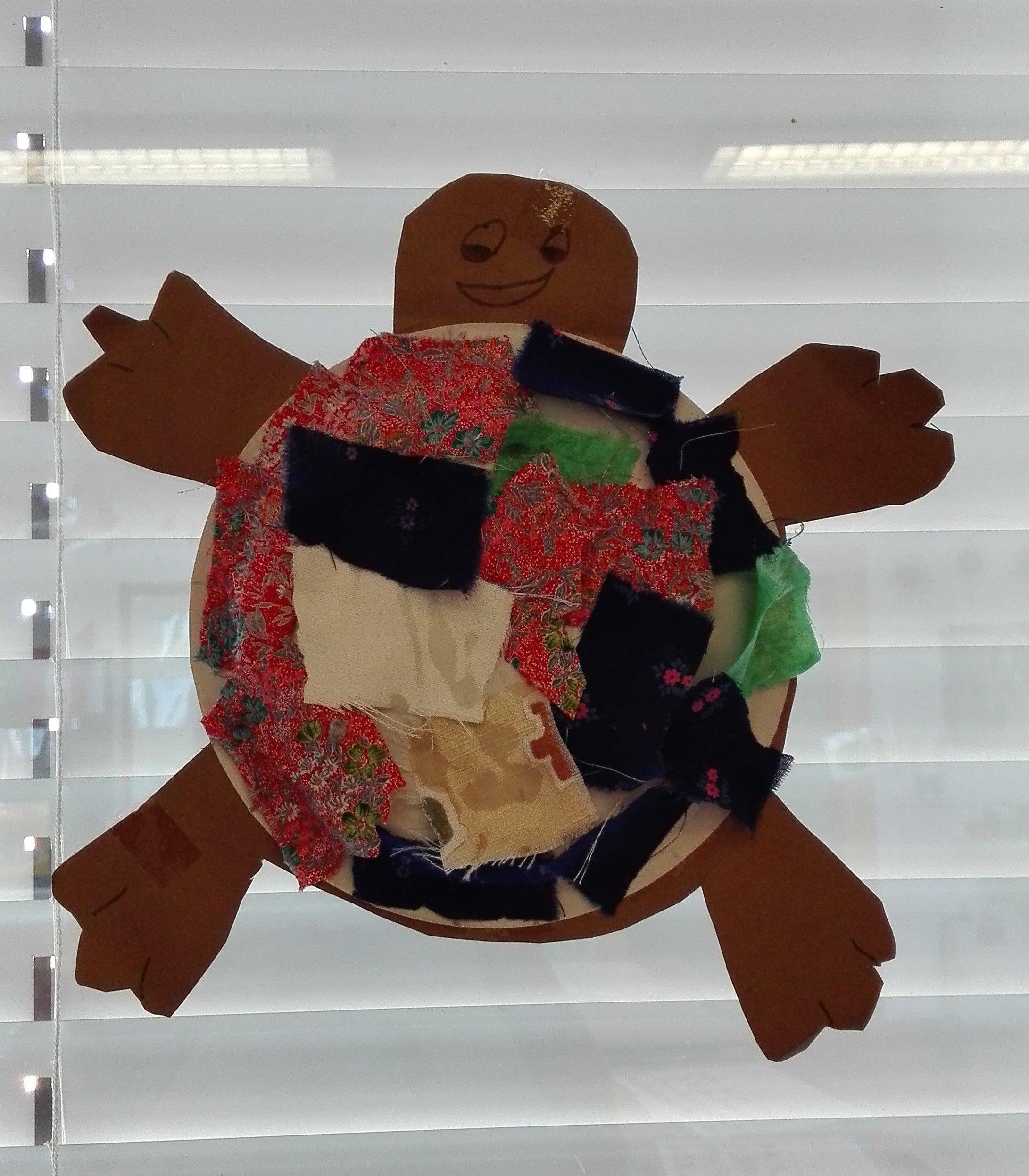 Schildkröte - Pappteller/Stoff | Basteln mit kindern ...