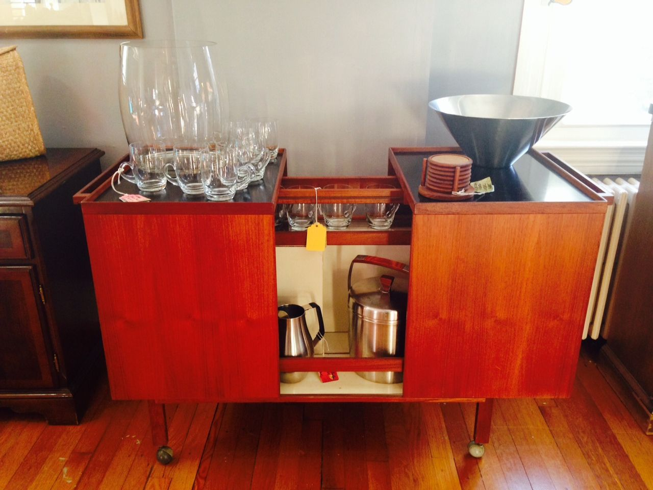 mid century drink cart  google search  individual living room . mid century drink cart  google search