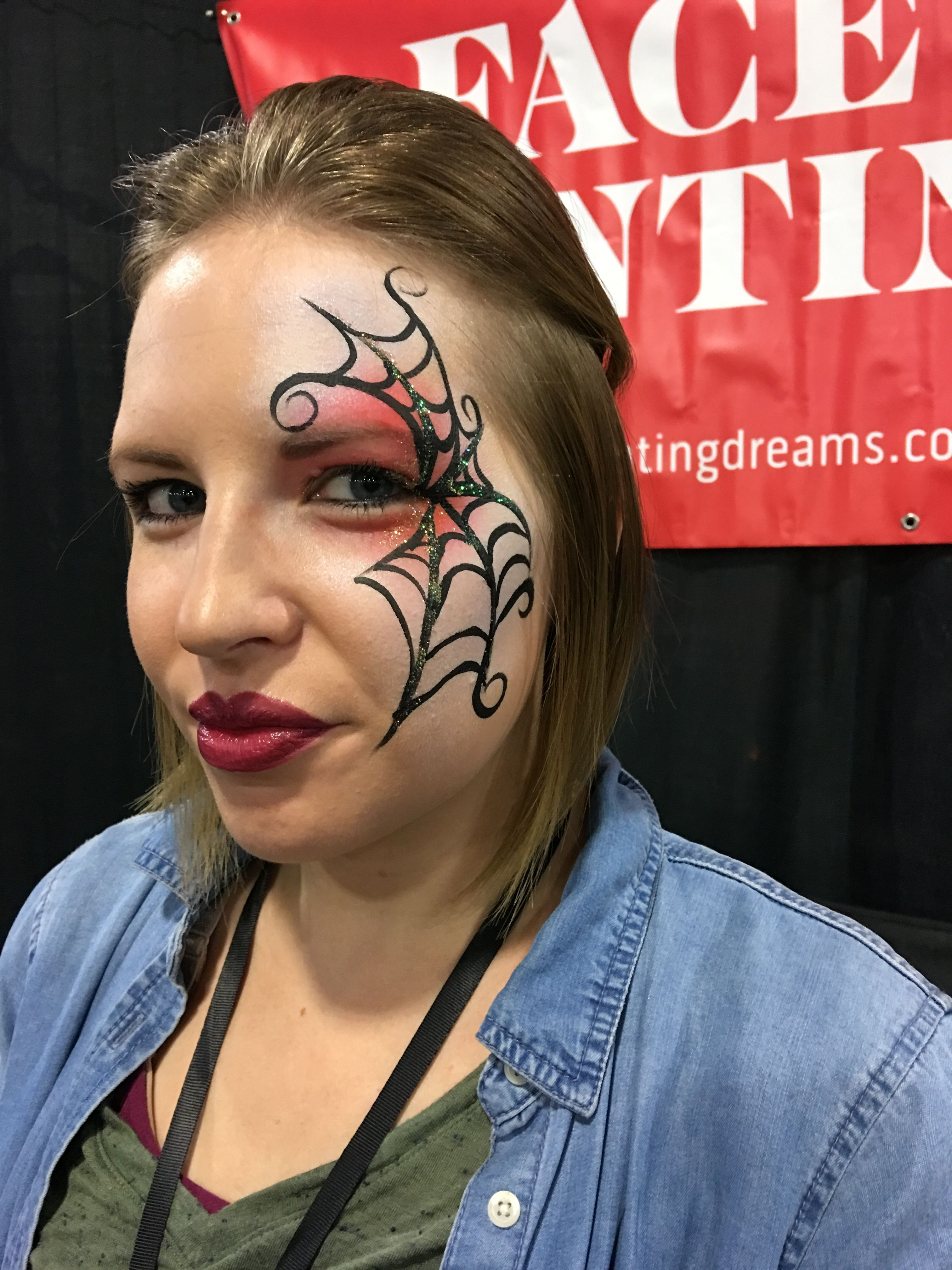 Happy halloween pretty and simple web makeup face painter jessie