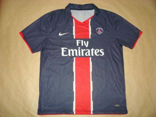 new concept 2c68f 6ce1a 5-5-PARIS-SAINT-GERMAIN-Home-2010-2011-Football-Shirt-XL ...