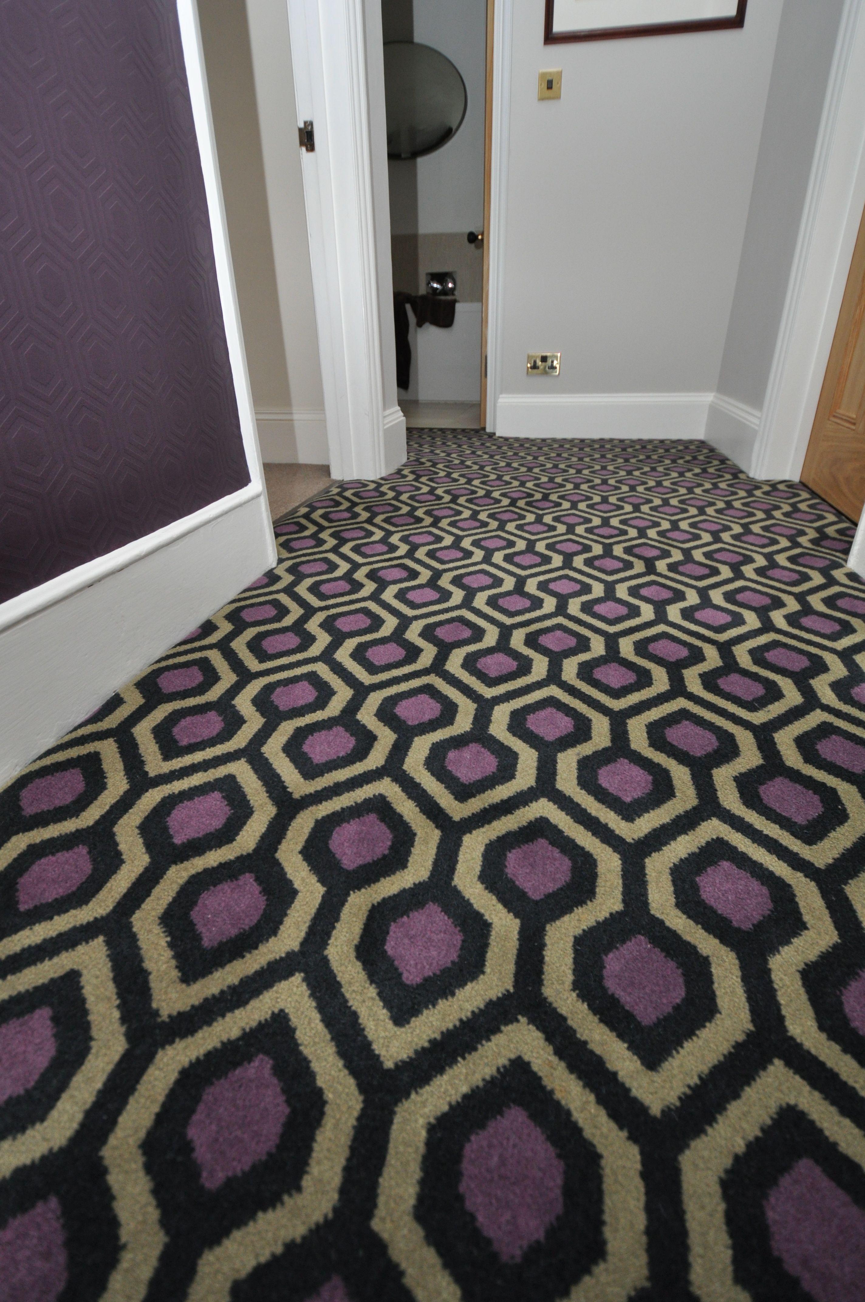 4 085 Geometric Carpet Bowloom Bespoke Geometric Carpet Fitted In Kent Geometric Carpet Carpet Fitting Carpet
