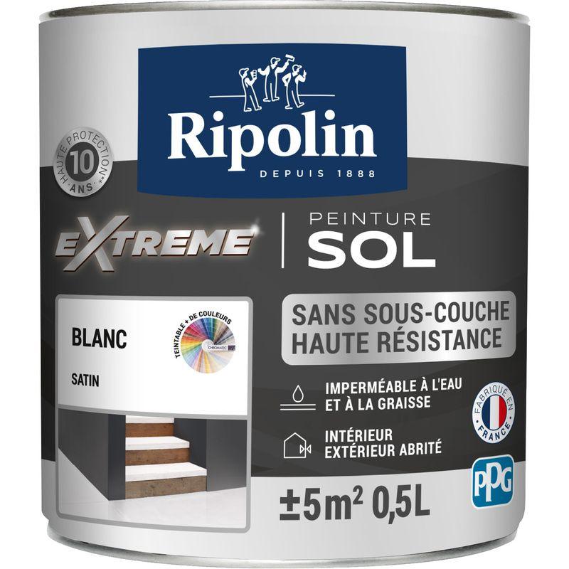 Peinture Pour Sol Interieur Exterieur Satin Blanc 0 5l Ripolin 321562 En 2020 Peinture Sol Peinture Sol Epoxy Et Peinture Sol Garage