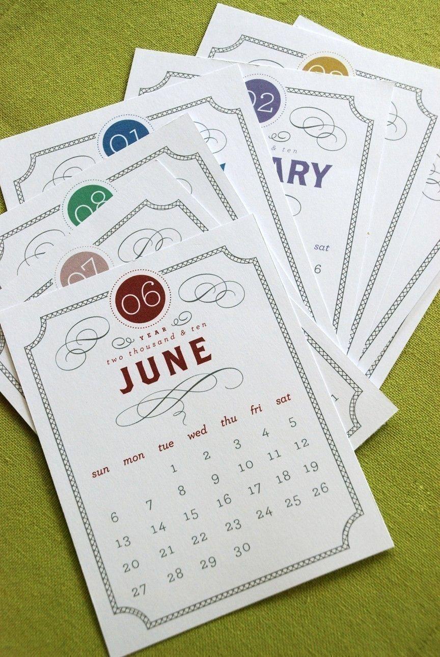 VINTAGE Printable Desk Calendar 2019 2020 Digital Instant ...