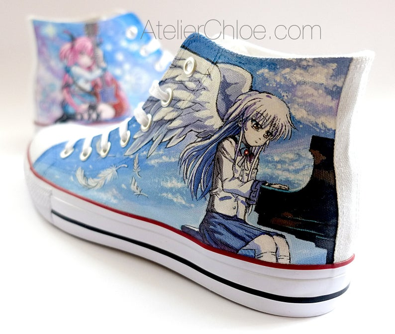 Anime Shoes Manga Shoes Hand Painted Custom Anime Vans Anime Etsy In 2020 How To Make Shoes Shoes Converse