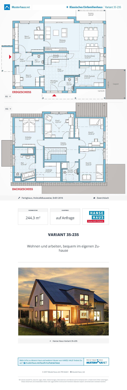 ▷ Musterhaus Variant 35 235 Hanse Haus
