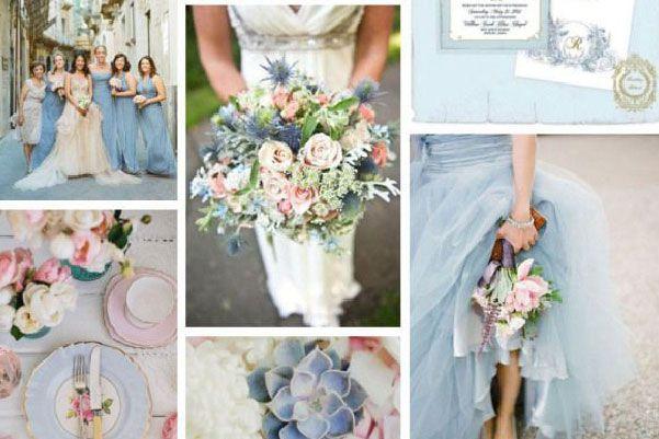 Decoración de boda en dusk blue #Tendencias2015