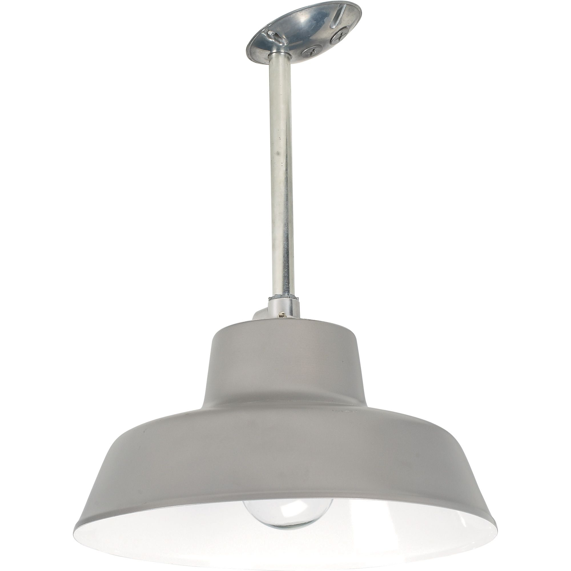 Canarm suspended ceiling barn light 14 38in dia 120 volts 300 this canarm suspended ceiling barn light hangs from an cord to light your industrialagricultural building csa us approved for damp locations arubaitofo Gallery