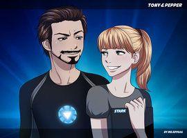 tony stark and pepper potts   Tony Stark and Pepper Potts by Bitcrossfire on deviantART