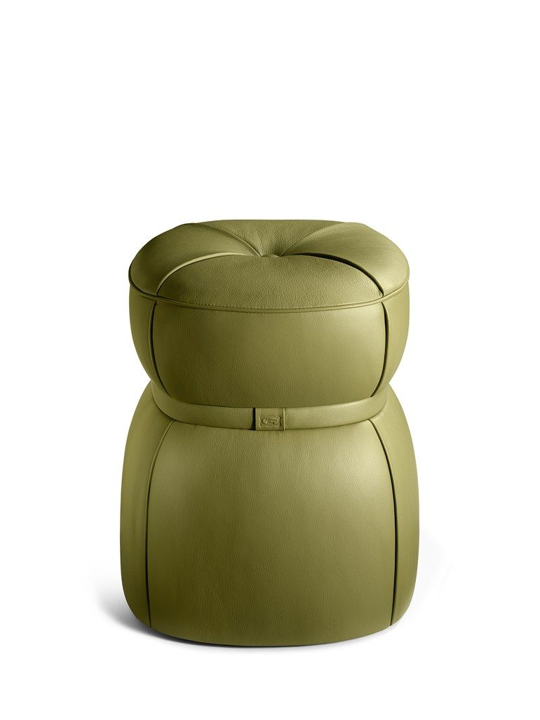 Lepli leather stool the collection sofa and armchairs for Sofa stool design