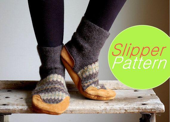 Women Slippers, Wool Slippers, women size 9.5, Snowy Outside ...