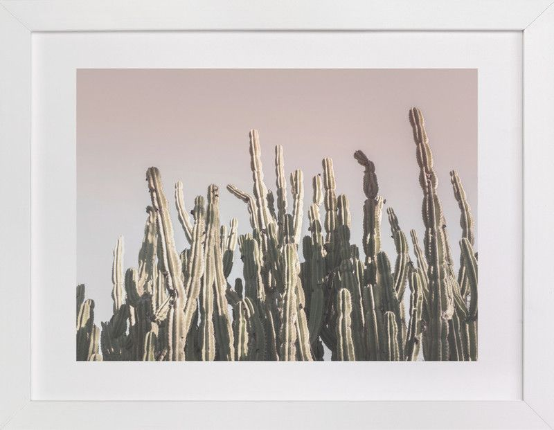 """Summer Cactus"" - Art Print by Wilder California in beautiful frame options and a variety of sizes. MINTED"