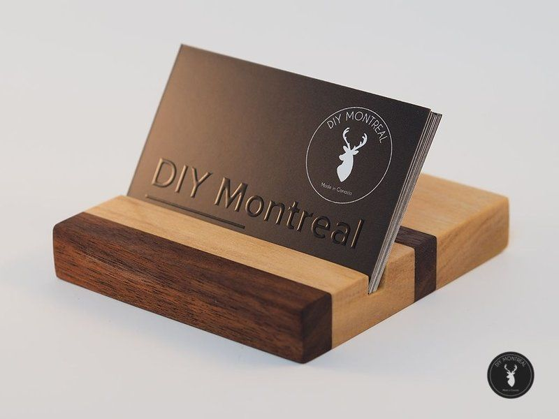 6 Simple Gifts You Can Make From Wood Wood Business Cards Wooden Business Card Wood Business Card Holder
