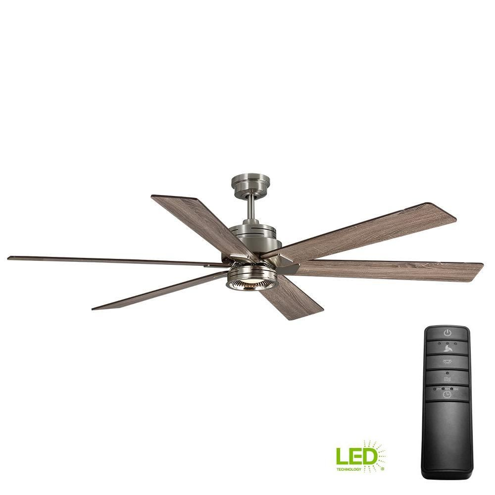 Home Decorators Collection Statewood 70 In Led Brushed Nickel Ceiling Fan With Light Kit And Remote Control 51770 Ceiling Fan Brushed Nickel Ceiling Fan Ceiling Fans Without Lights
