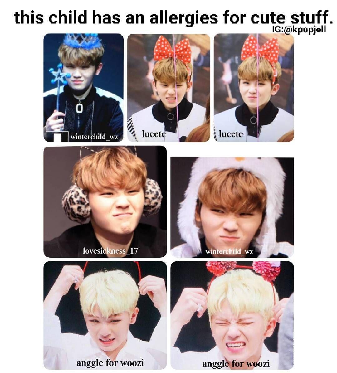 Woozi And His Cute Allergy Woozi Seventeen Kpop Seventeen
