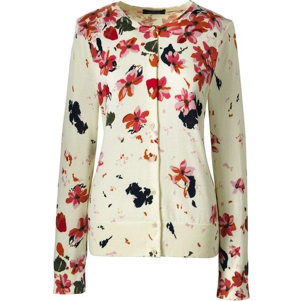 Lands  End Women s Plus Size Supima Print Cardigan Sweater ( 35) ❤ liked on 4df1a3461