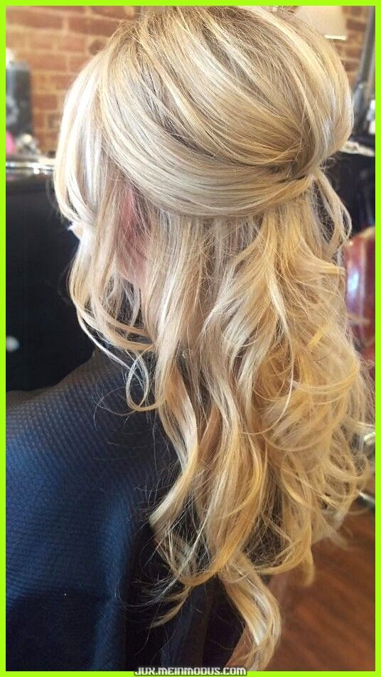 Photo of Enchanting wedding hairstyle updo half high half fixed …