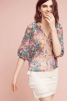 Clothing And Accessories New Arrival Favorites Anthropologie Womens Petite Tops Lovely Tops Floral Tops