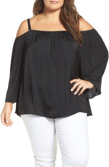 ad6b04b120853e Vince Camuto Plus Size Women s Off The Shoulder Blouse