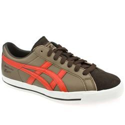 Onitsuka Tiger Male Onitsuka Fabre 74 Leather Upper Fashion Trainers in Brown and Orange, White and Grey ONITSUKA TIGER Onitsuka Fabre 74 The story behind the Fabre 74 shoe from Onitsuka Tiger is that it was designed as a low-top basketball shoe. In the early 80s it was found on the feet of skateboarder http://www.comparestoreprices.co.uk/trainers/onitsuka-tiger-male-onitsuka-fabre-74-leather-upper-fashion-trainers-in-brown-and-orange-white-and-grey.asp