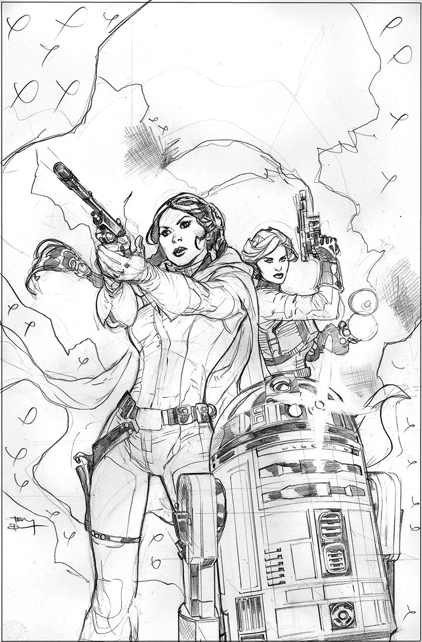 Star Wars: Princess Leia #3 Cover Pencils by TerryDodson.deviantart.com on @DeviantArt