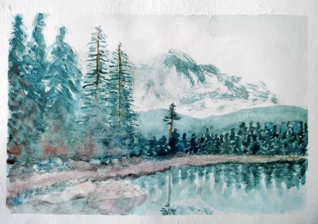 Progressons Ensemble A L Aquarelle Peinture Aquarelle Paysage