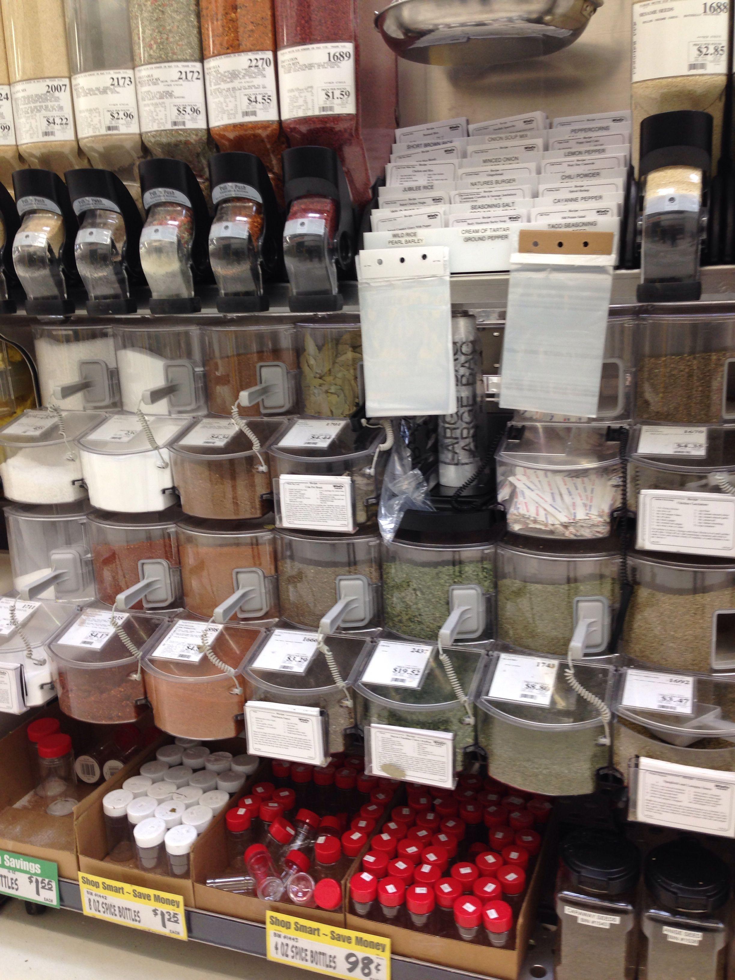 Bulk Spices At Winco Bulkfoods Bulkspices Zerowaste
