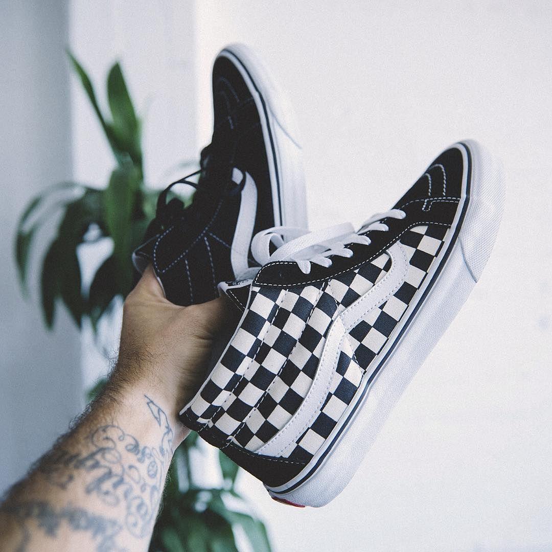 Vans Sk8-Mid Checkerboard   Vans, Vans